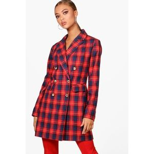 Daniella Check Blazer Dress